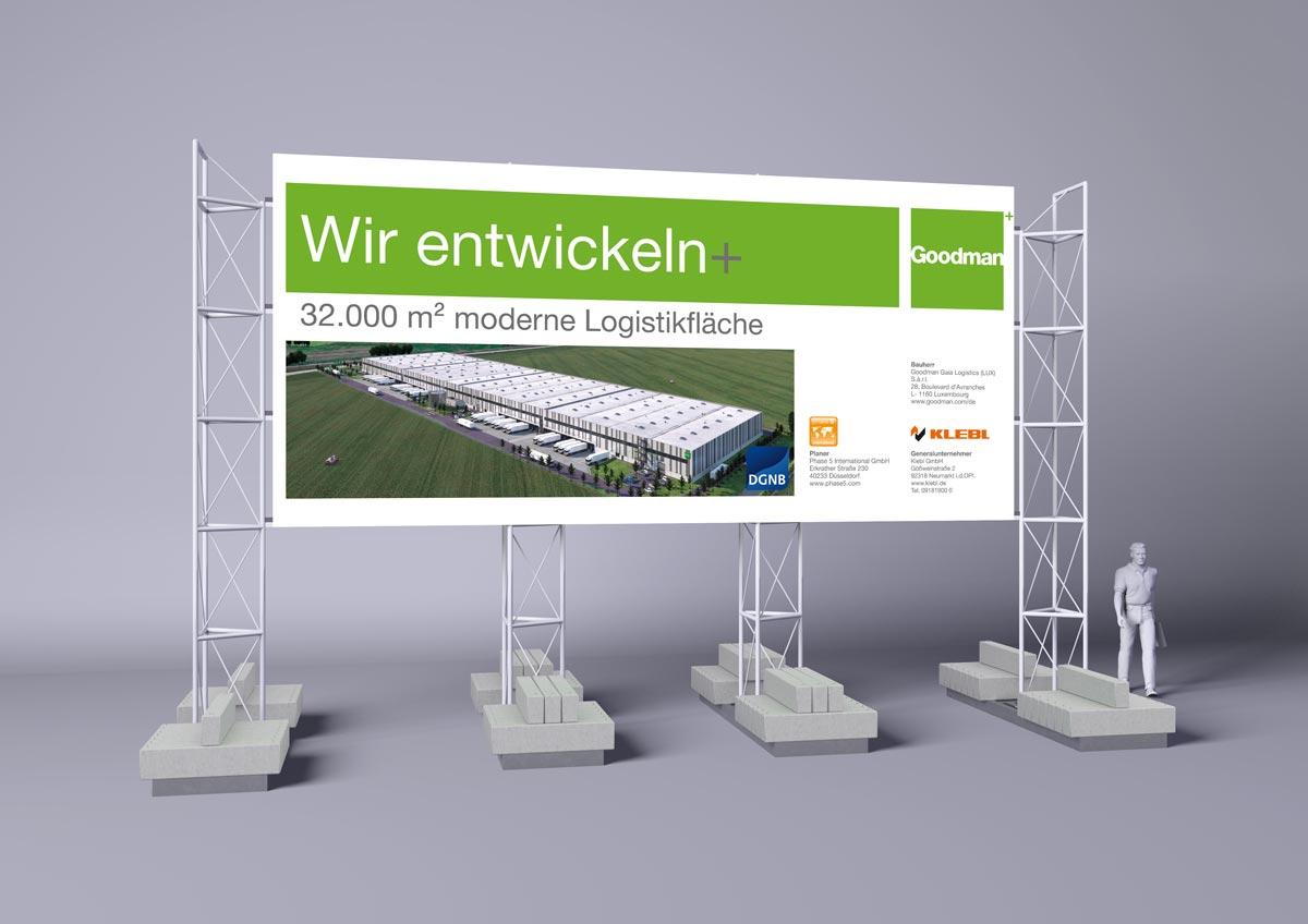 Klebel - Baustellenschild