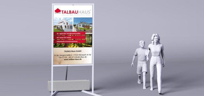 Talbauhaus – Serienschilder