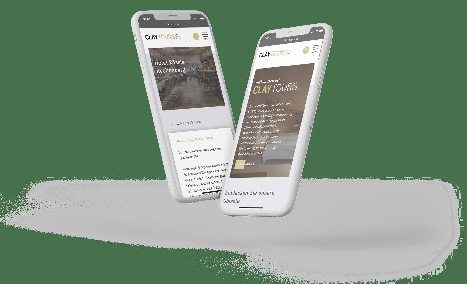 Claytours Webseite
