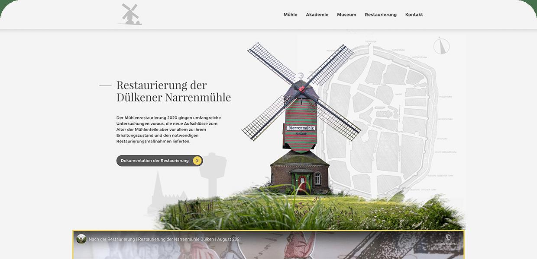 Narrenmühle Webseite