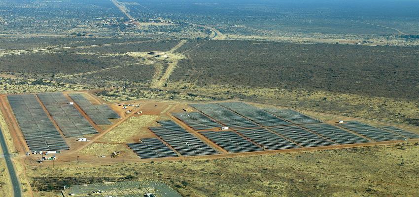 Solarenergiegewinnung in Namibia